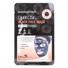 Восстанавливающая тканевая детокс-маска для лица с древесным углем, 23мл, MBeauty