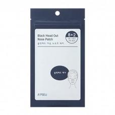 АП Очищающие полоски для носа набор 10шт A'PIEU Black Head Out Nose Patch Set 10шт