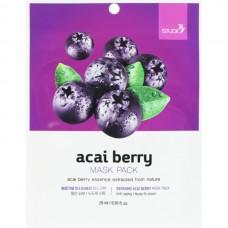 Тканевая маска для лица с экстрактом ягод асаи, 28мл, BERGAMO