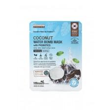 Маска тканевая с кокосовой водой и пробиотиками, 22мл, MBeauty