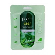 Тканевая маска с экстрактом алоэ Jigott Aloe Real Ampoule mask