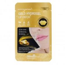 Гидрогелевые патчи для губ с золотом, 1шт, MBeauty