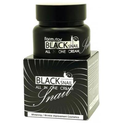 Восстанавливающий крем для лица с муцином черной улитки, 100 ml,Farmstay