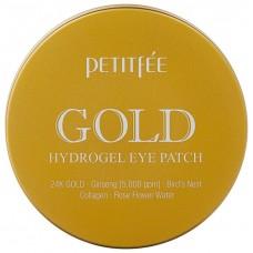 Гидрогелевые патчи для области вокруг глаз с муцином улитки и коллоидным золотом, PETITFEE