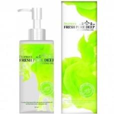 Гидроф.масло для глубок. очищ. пор Deoproce fresh pore deep cleansing oil 200мл (виноград, зеленое)