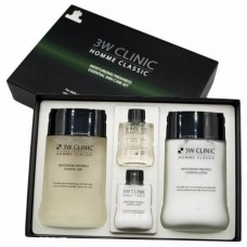 3W Clinic HOMME Classic Skincare, set Увлажняющий освежающий набор для мужчин