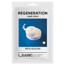 Восстанавливающая тканевая маска с бета-глюканом, 25мл, L.SANIC