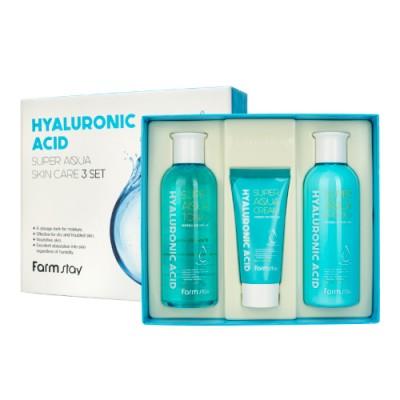Набор средств по уходу за кожей с гиалуроновой кислотой, 3 средства, FarmStay