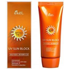 Солнцезащитный крем с экстрактом алоэ и витамином Е Ekel UV Sun Block SPF50 PA+++, 70мл