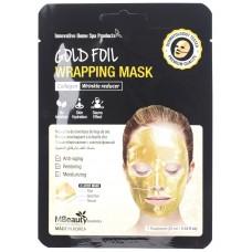 Антивозрастная золотая фольгированная маска для лица с коллагеном, 25мл, MBeauty
