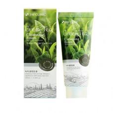 [3W CLINIC] Пенка для умывания натуральная ЗЕЛЕНЫЙ ЧАЙ Green Tea Foam Cleansing, 100 мл